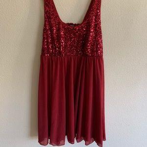 Apt 9 sequin red dress